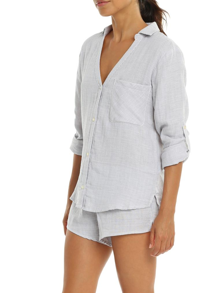 Organic Cotton Stripe PJ Top
