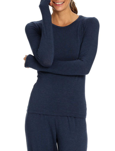 Modal Lounge Top in Navy Marl