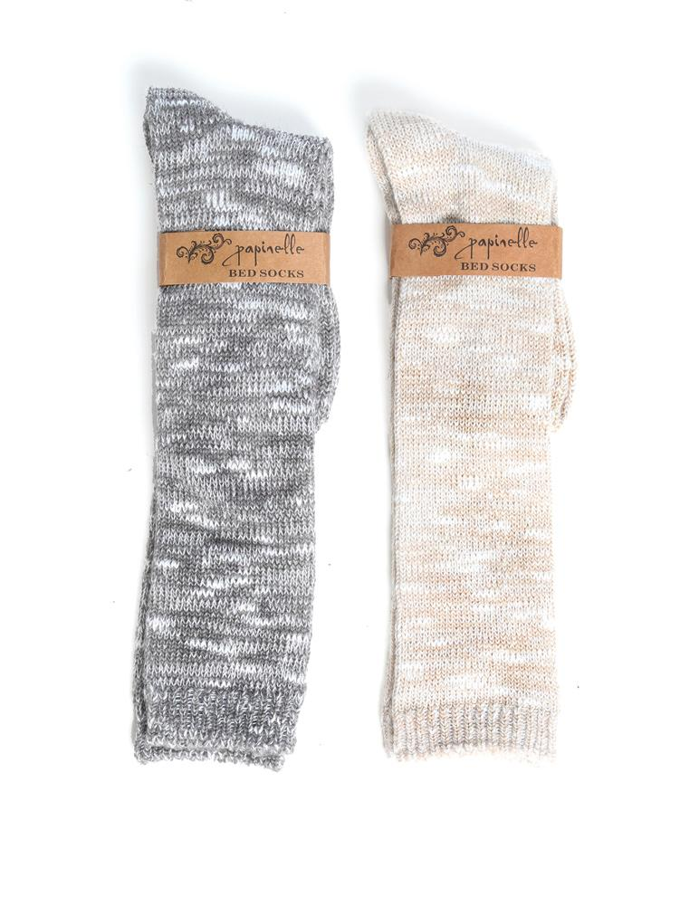 Soft Knit Bed Socks in Grey