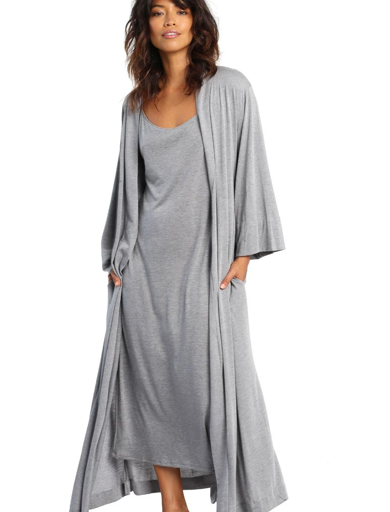 Basic Maxi Robe Grey