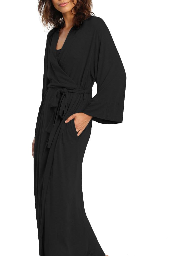 Basic Maxi Robe Black
