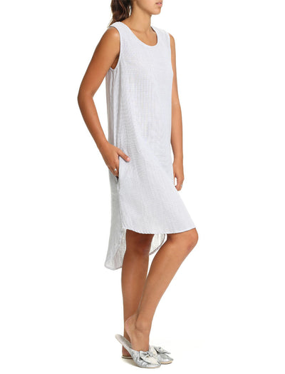 Organic Cotton Stripe Long Nightie