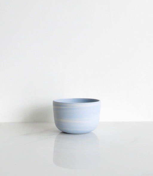 CORNFLOWER BLUE MARBLE BOWL