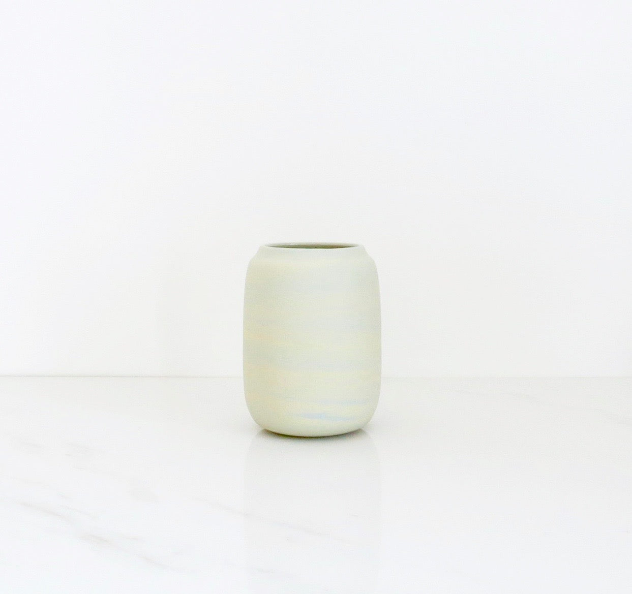CITRON MARBLED VASE