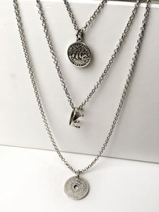 Triple Jump Layered Necklace