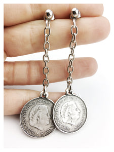 Double Dutch Coin Chain Earring