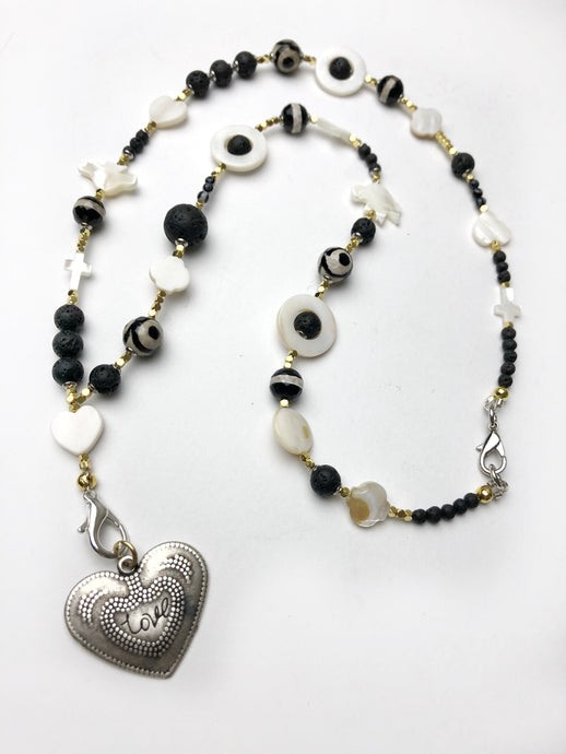 Milagros Beaded Charm Necklace