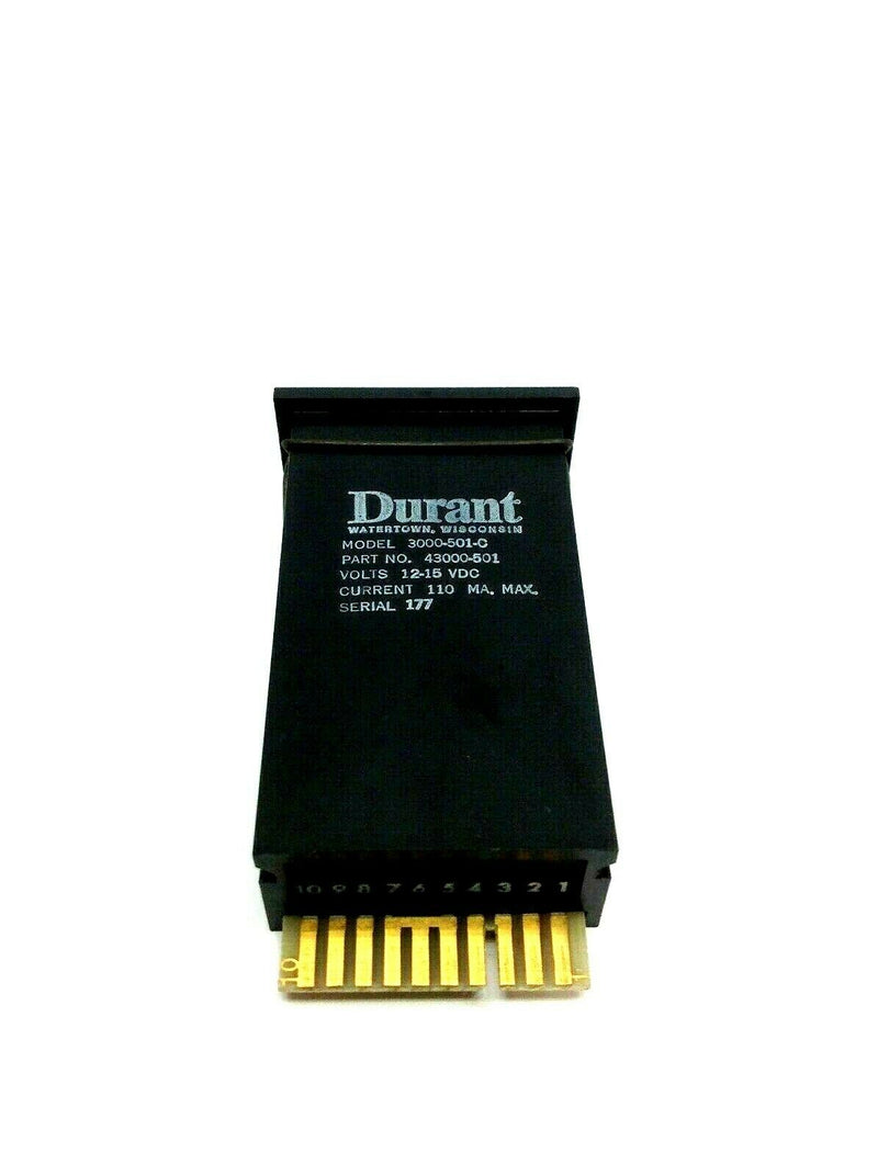 Durant 3000-501-C Electronic Counter 12-15VDC 110mA - Maverick Industrial Sales