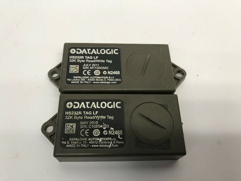 Lot of 2 Datalogic HS232R TAG LF 32K Byte Read Write Memory Tags, Broken Mounts - Maverick Industrial Sales