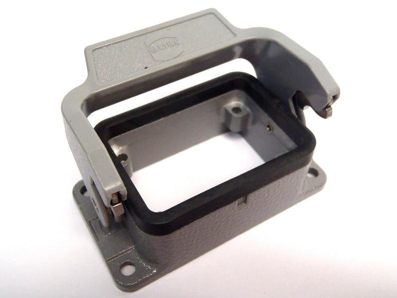 Set of (2) Harting Hinged Enclosures W/ Han B. QB + Base & 6B-Base Panel - Maverick Industrial Sales