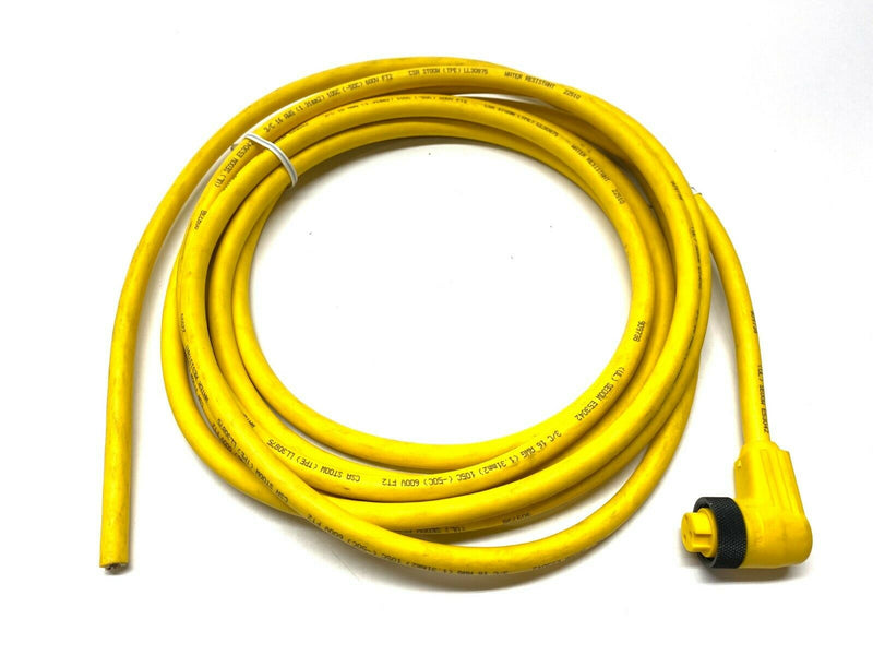 Lumberg Automation RKW 30-738/15F Cordset w/ Right Angle 3-Pin Female Connector - Maverick Industrial Sales