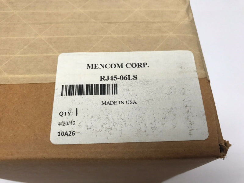 Mencom Corp. RJ45-06LS Panel Interface Connector w/ RJ45, 06LS Housing - Maverick Industrial Sales
