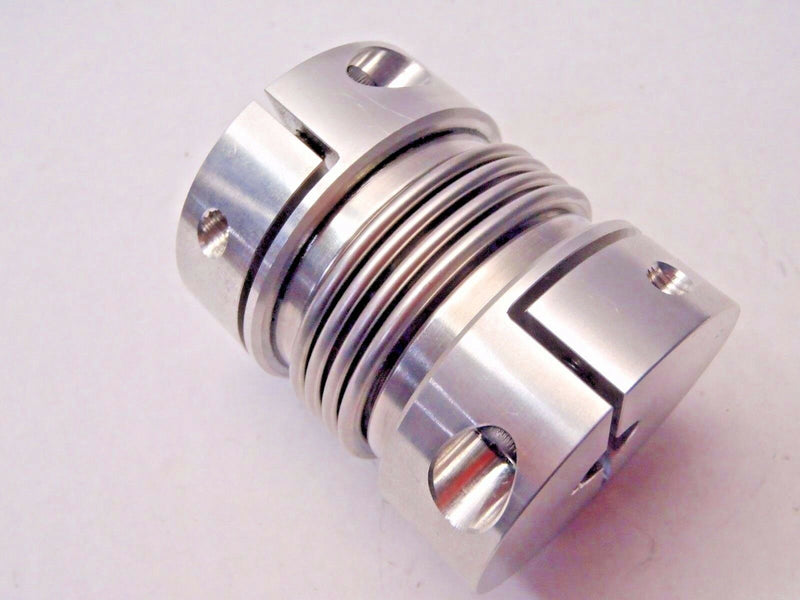 "195770 Coupling 2-1/8""OD 7/8""ID 1/4""Key 1/2""ID 1/8"" Key 2-5/8""L Alum/ SS Bellows - Maverick Industrial Sales"