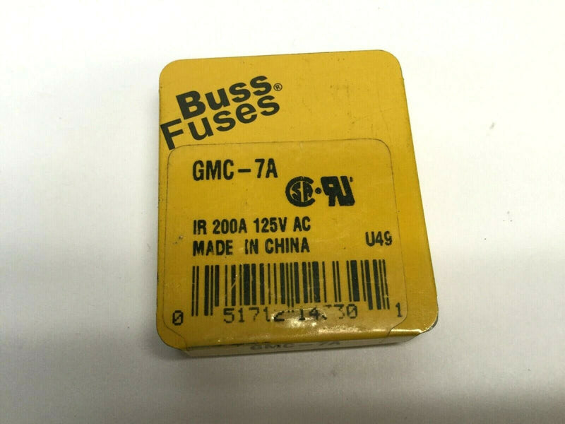 Buss Fuses GMC-7A Fuses (5) Pack, IR 200A 125V AC - Maverick Industrial Sales