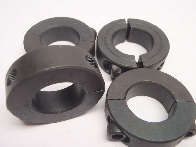 "Lot of (4) Stafford 8L014 Low Profile Steel 7/8"" 2 PC Clamp Collar W/O 57072 - Maverick Industrial Sales"