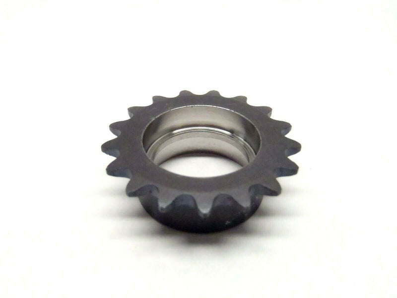 "17 Tooth Chain Sprocket Fits 22mm Shaft with 5mm Deep Shoulder Approx 1-1/2"" Dia - Maverick Industrial Sales"