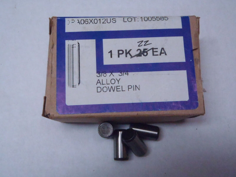 LOT OF 22 SOCKET SOURCE DPA06X012USA 3/8 X 3/4 ALLOY DOWEL PIN - Maverick Industrial Sales
