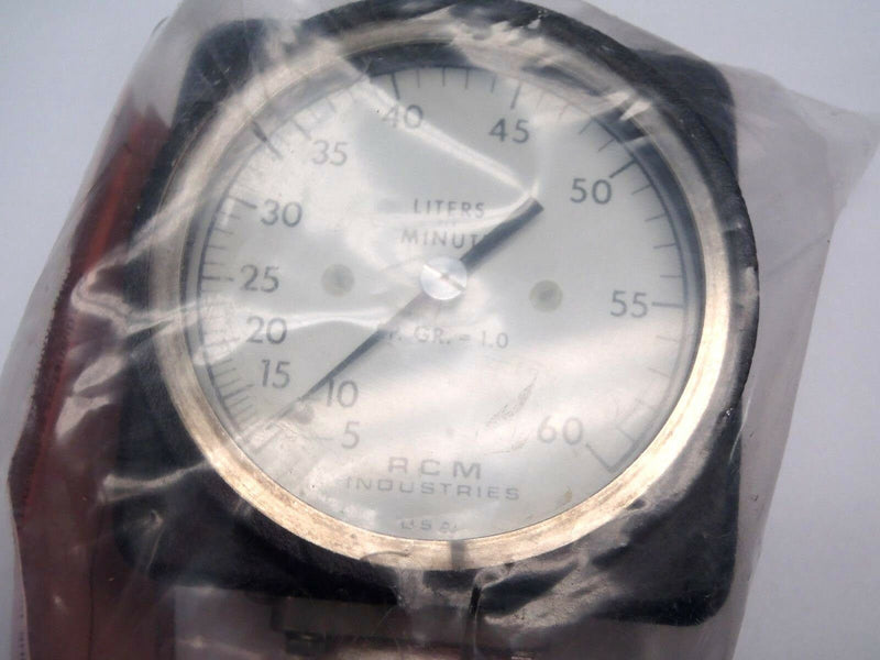 "RCM Industries 1""-73-R-M60 Flowmeter Gauge 180 PSIG Temp. 200 F 830983 - Maverick Industrial Sales"