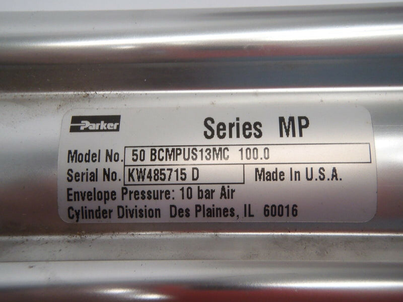Parker Pneumatic Air Cylinder, 50 BCMPUS13MC 100.0 10 Bar Air Series MP - Maverick Industrial Sales