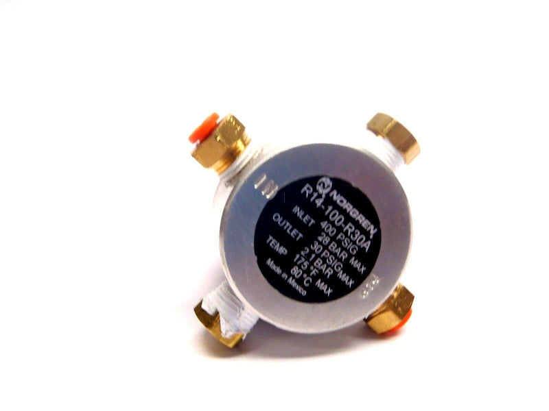 NORGREN R14-100-R30A Nonadjustable Miniature Air Regulator w/ Fittings - Maverick Industrial Sales