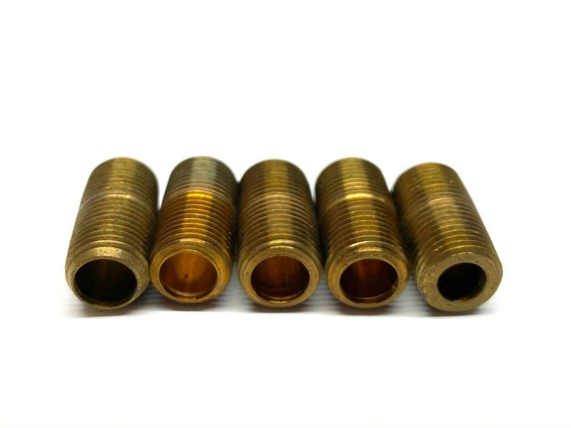 "Pipe Nipple Close Threaded Brass 1/8"" NPT x 3/4"" LOT OF 5 - Maverick Industrial Sales"