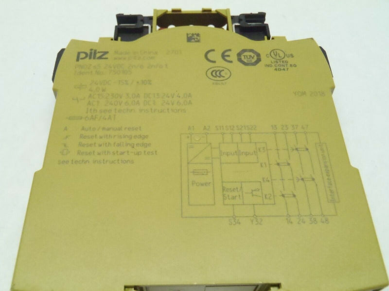 Pilz PN0Z s5 24VDC 2n/o 2n/o t Safety Relay 750105 - Maverick Industrial Sales