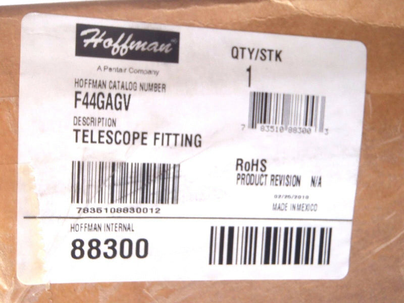 Hoffman F44GAGV Telescoping Fitting 88300 - Maverick Industrial Sales