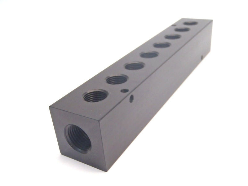 "Bond Fluidaire AM-5-8 Manifold Block Approx. 8-11/16"" L 2 Inlet 8 Outlet - Maverick Industrial Sales"