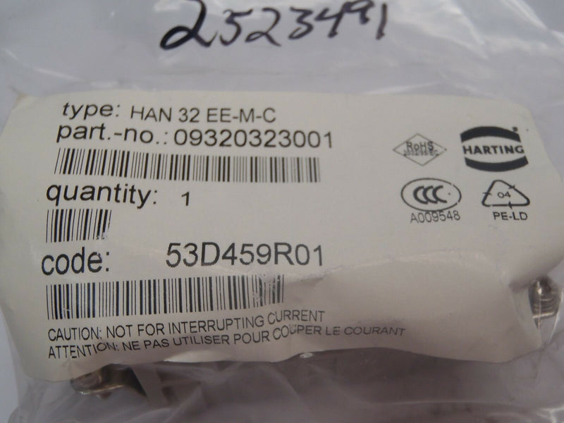 Harting 09320323001 Heavy Duty Connector Insert 16A 500V 6kV 3 HAN 32 EE-M-C - Maverick Industrial Sales