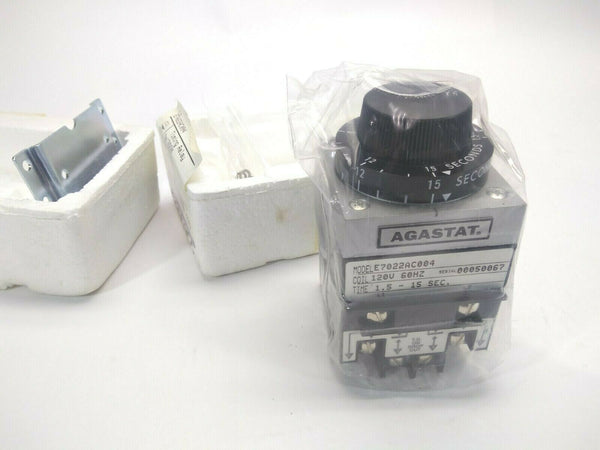 Tyco Electronics Agastat E7022AC004 Timing Relay 120V 60Hz Coil 1.5-15 Seconds - Maverick Industrial Sales