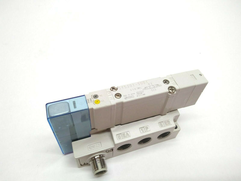 SMC SY5301-5UD1-WO-02 Pneumatic 5 Port Solenoid With 4/5 Port Solenoid Manifold - Maverick Industrial Sales