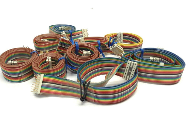 Lot of 9 Eberline 16 Pin Rainbow Ribbon Cables - Maverick Industrial Sales