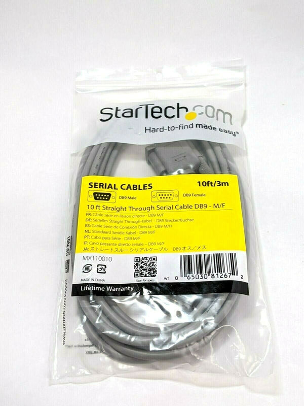 Startech MXT10010 10' Straight Through Serial Cable DB9-M/F - Maverick Industrial Sales