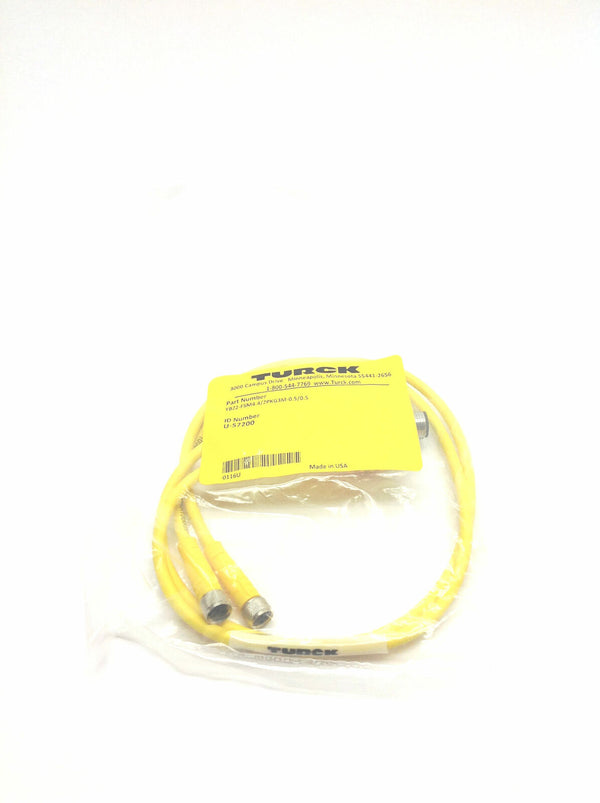 Turck YBZ2-FSM4.4/2PKG3M-0.5/0.5 Molded Twin Junction Splitter U-57200 - Maverick Industrial Sales