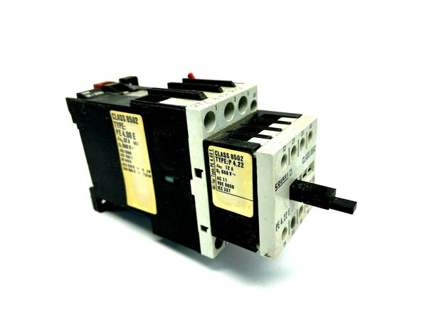 Square D PE.400E Contactor w/ P4.22 Auxiliary Contact Class 8502 - Maverick Industrial Sales