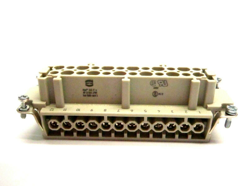 Harting Han 24e-f-s 09330242701 24 Pin Female Connector - Maverick Industrial Sales