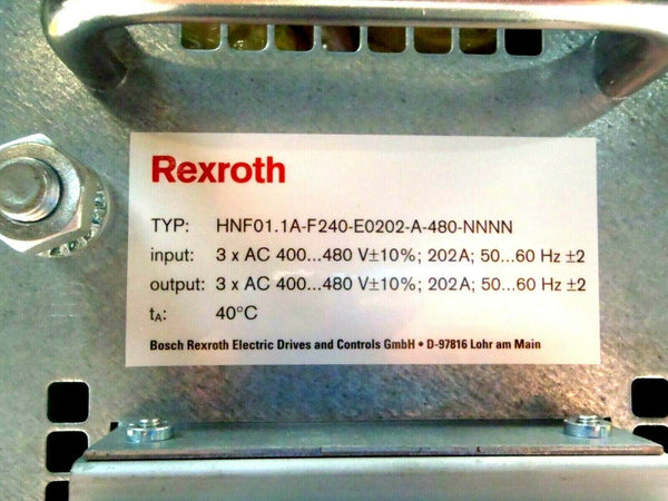 Rexroth HNF01.1A.F240-E0202-A-480-NNNN Power Line Filter 3 Phase Controller 480V - Maverick Industrial Sales