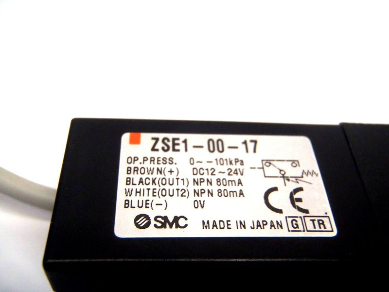 SMC ZSE1-00-17 Vacuum Pressure Switch 101kPa Max - Maverick Industrial Sales