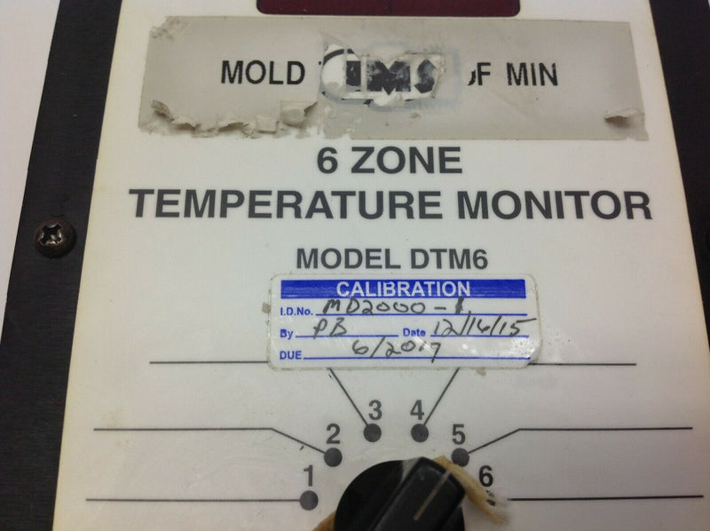 IMS DTM6 6 Zone Temperature Monitor MD2000-1 - Maverick Industrial Sales