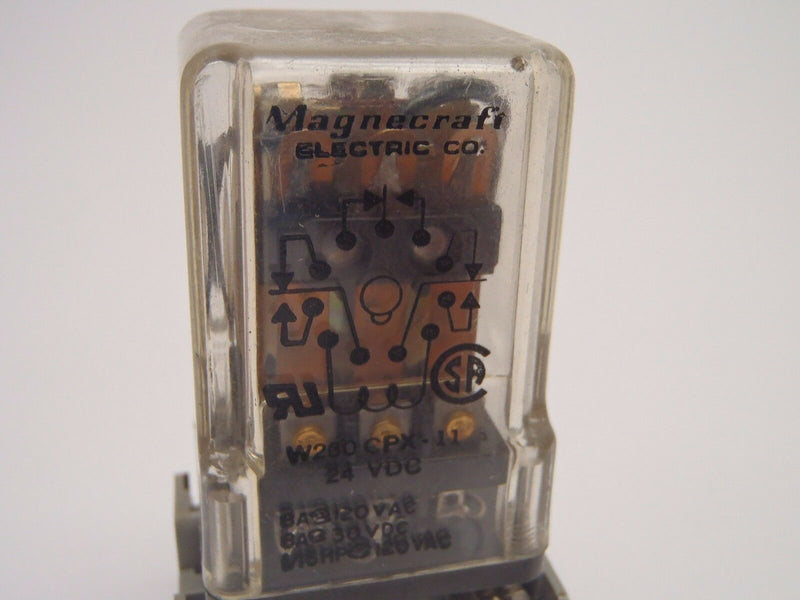 Magnecraft W250CPX-11 With Square D NR62 Base - Maverick Industrial Sales