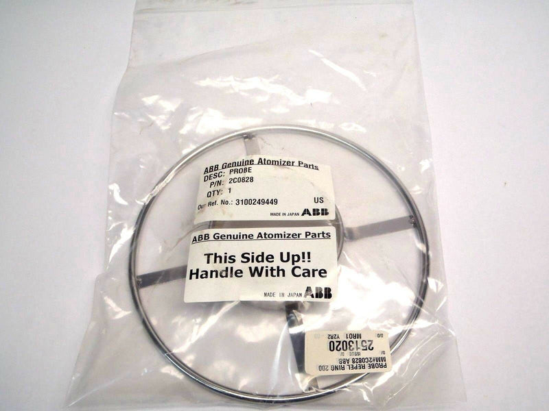 ABB 2C0828 Genuine Atom Parts 200mm Stainless Probe Ring 3100249449 - Maverick Industrial Sales