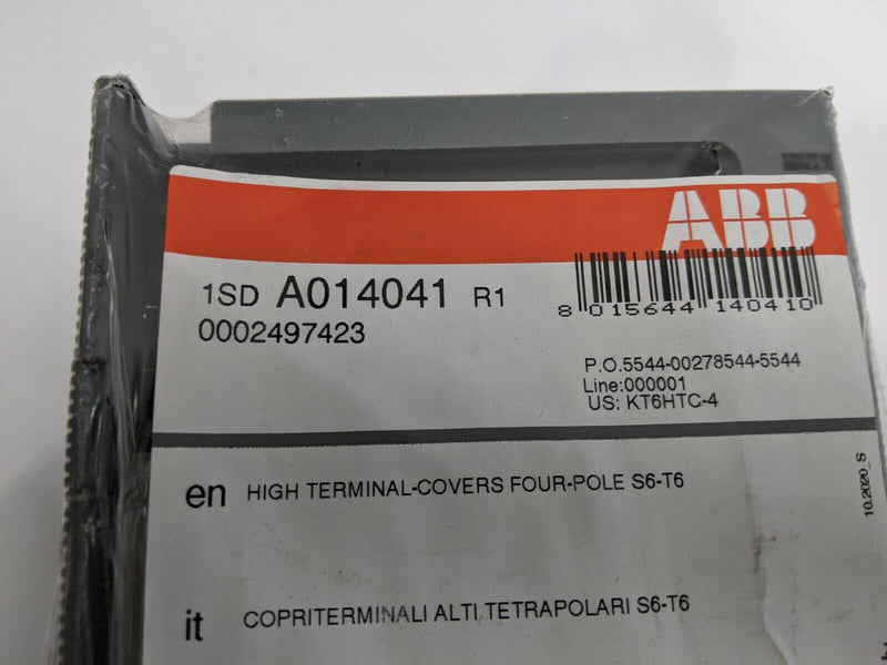 ABB KT6HTC Lug Cover High T6 4P 1SDA014041R1 - Maverick Industrial Sales
