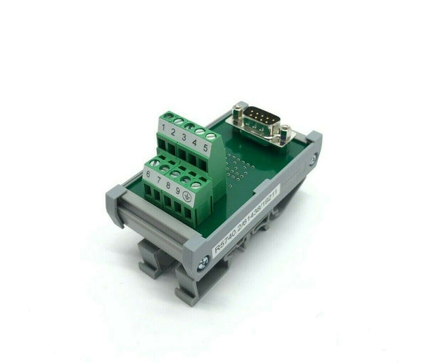 Connectwell ESMT 9-Wire/Pin Terminal Block to DB9 Connector, DIN Rail Mount - Maverick Industrial Sales
