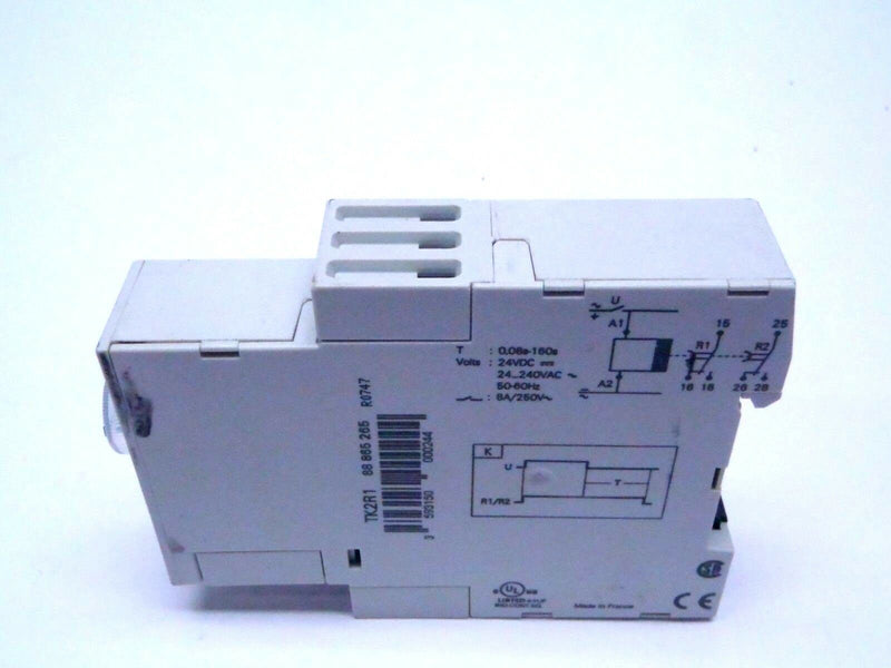 Crouzet TK2R1 DIN Rail Mount Timer 2 Relay 8A / 0,6 s - 160 s - Maverick Industrial Sales