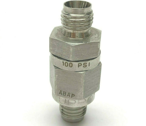 "Swagelok 1/4"" Male NPT 100 PSI Excess Flow Valve Fitting"