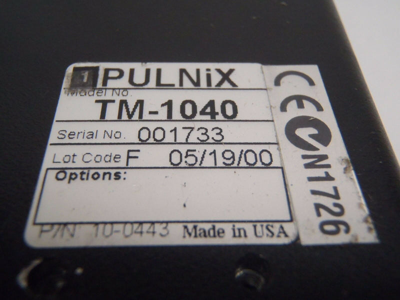 PULNIX TM-1040 LOT F 10-0443 PROGRESSIVE SCAN HIGH RESOLUTION DIGITAL CCD CAMERA - Maverick Industrial Sales
