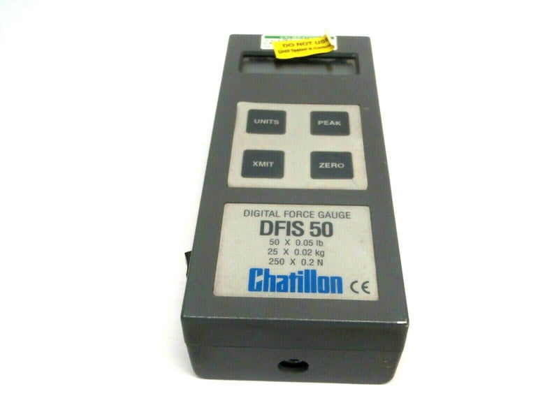 Chatillon DFIS 50 Gray Case Digital Force Gauge 50 x 0.05 lb 25 x 0.02 kg - Maverick Industrial Sales