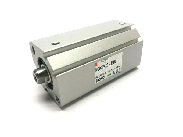 SMC NCDQ2A20-45DZ Compact Pneumatic Cylinder Double Acting 20mm Bore 45mm Stroke - Maverick Industrial Sales