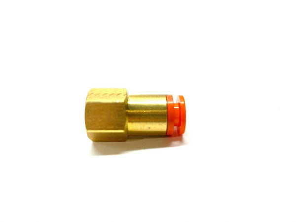 "SMC KQ2F07-34A Brass Female Connector 1/8"" NPT x 1/4"" OD Push Connect LOT OF 10 - Maverick Industrial Sales"