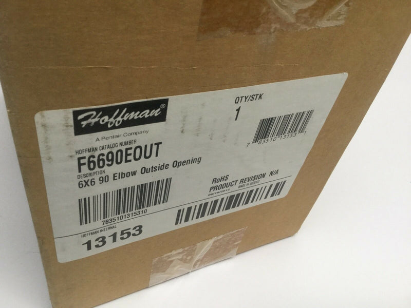 Hoffman F6690EOUT 6X6 90 Elbow Outside Opening 13153 - Maverick Industrial Sales